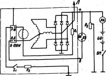 Схема подключения генератора нивы на